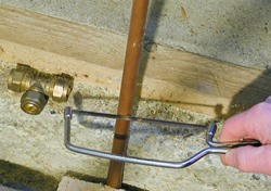 Rocky Hill CT plumber installing pipe fitting